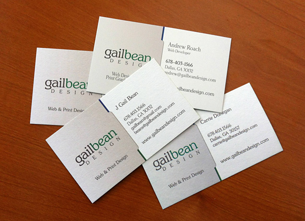 Gail Bean Design business cards